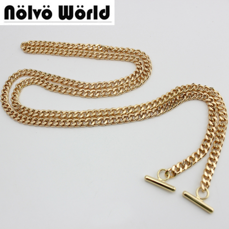 Free shipping diy bag strap 120cm 130cm chain wallet handle purse metal strap chain strap replaced
