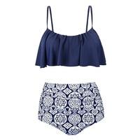 QIANG YI Crop Top Sexy Bikini Set Women Swimsuit Female Swimwear Adjustable Strap Push Up Bathing