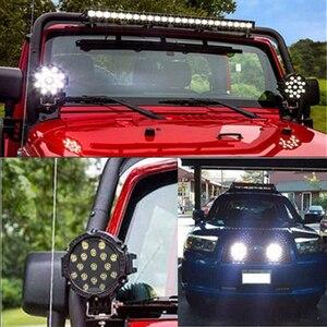 """Image 5 - OKEEN Barra de luz LED de alta potencia, foco de trabajo de 7 """", 51W, foco de conducción por inundación, para todoterreno, 12V, 24V, 4x4, 4WD, barco, SUV, camión, JEEP"""