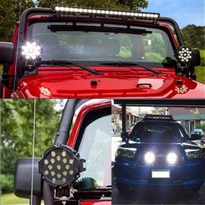 """Image 5 - OKEEN HIGH POWER 7 """"51W LED światło robocze miejsce robocze/powódź listwa świetlna dla OFF ROAD UTE 12V 24V 4x4 4WD łódź ciężarówka SUV JEEP"""