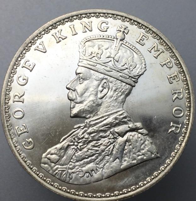 Indien Britischen George V König Kaiser 1921 Eine Rupie Messing