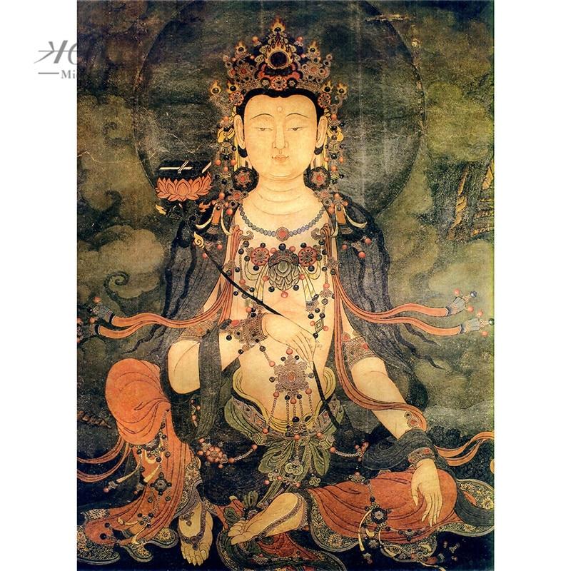Michelangelo Wood Jigsaw Puzzle 500 1000 Piece Samantabhadra Bodhisattva Buddhist Thangka Painting Art Kid Educational Toy Decor