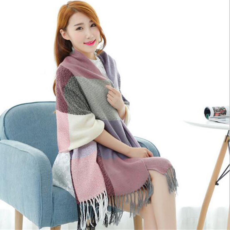 a2dfcdfe4b0e 2016 Marque De Mode Designer Écharpe En Cachemire D hiver Femmes Châle Cape  Couverture Plaid Foulard écharpe b109