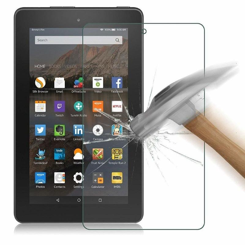 2015/2017 Screen Tempered Glass Protector For Amazon Kindle Fire 10