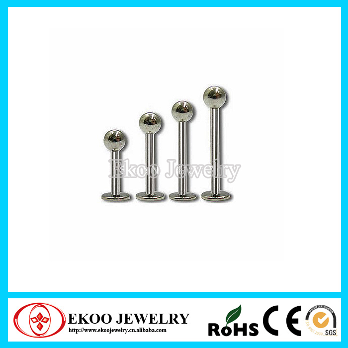 Highly Polished G23 Titanium Stud Earrings Body Jewelry