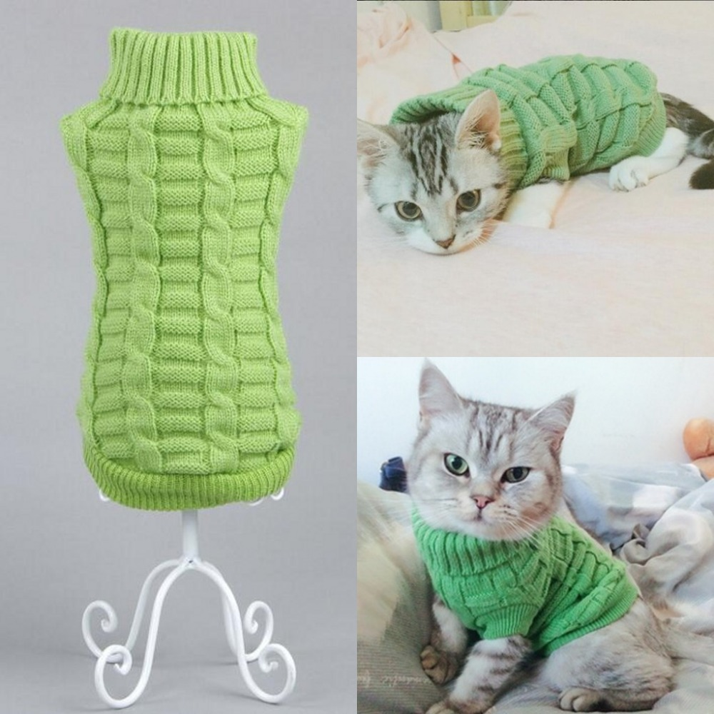 NYHET Dog Cat Sweater Sphinx Cat Coat Spagetti Varm Høst Vinter Pet - Pet produkter - Bilde 4