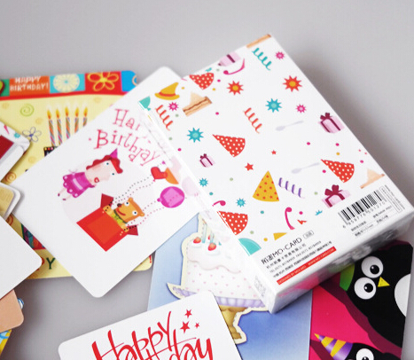New 54 Pieces Mini Birthday Cards 27 Different Patterns 8757cm