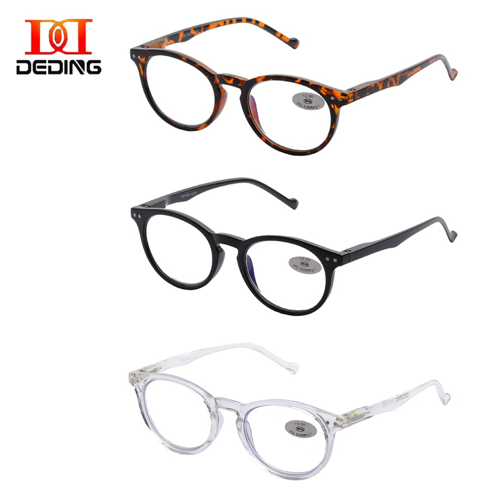 Computer Reading Glasses 3 Pair Anti Glar Readers For Men & Women Reading Glasses With Spring Hinge Magnification+1.0-+4.0dd1500