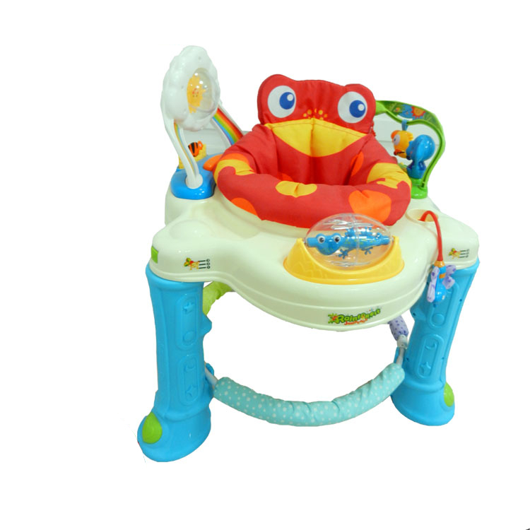 c9261943c Free shipping Musical Frog Baby Walker Jumper Rainforest Jumperoo ...