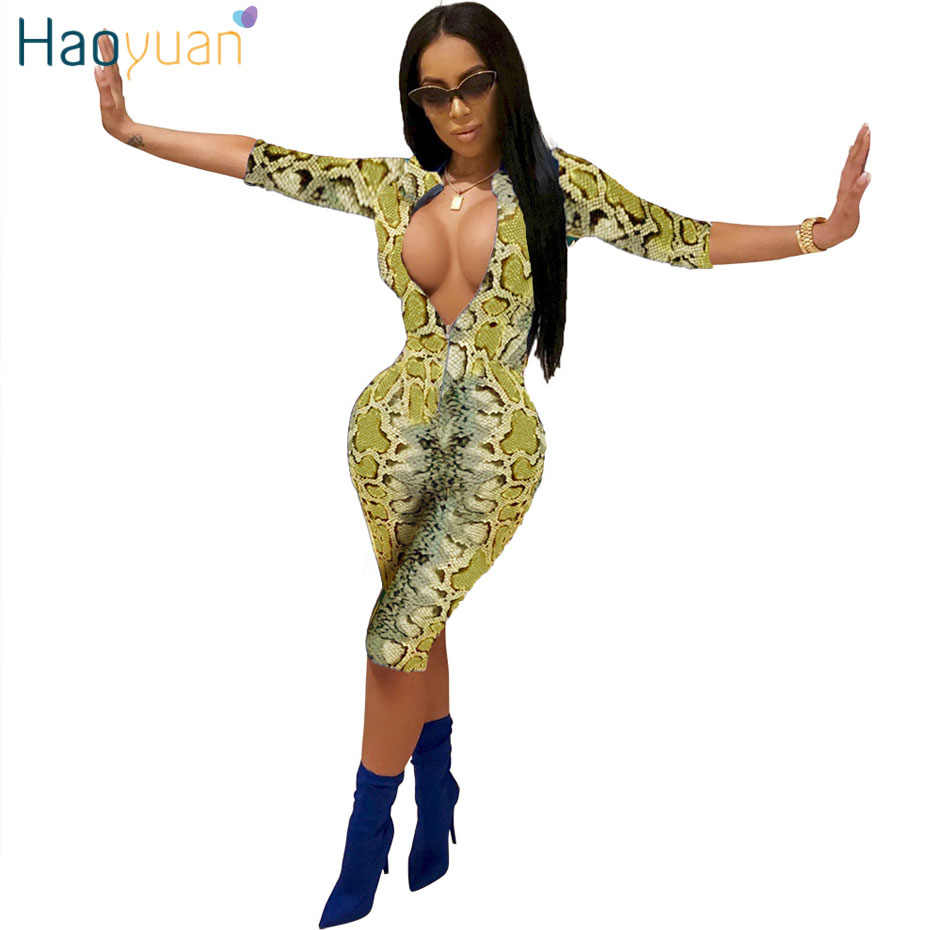 f4ffb62d211e HAOYUAN Snake Print Playsuit Sexy Costumes Casual Overalls One Piece Bodycon  Shorts Rompers Womens Jumpsuit Snakeskin