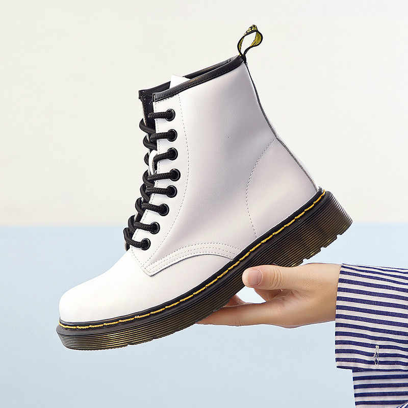 52407548ea 2019 Hot Brand Men's Boots Martens Leather Winter Warm Shoes Motorcycle  Mens Ankle Boot Doc Martins Fur Couple Oxfords Shoes