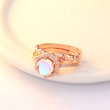Exquisite Bridal Marriage Engagement Ring Shiny Silver Pure Natural Crystal Fire Opal Ring High Jewelry 4