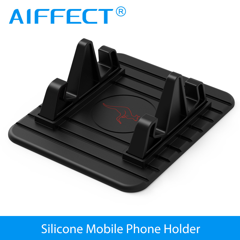 AIFFECT Desk Phone Holder Universal Mobile Phone Holder Stand Soft Silicone Car Phone Holder for Samsung Xiaomi iPhone Huawei