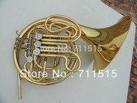 Оптовая Продажа Золотой двухрядные 4 ключ одного Валторны духовой инструмент с мундштуком fb ключ Валторны с нейлоновый чехол