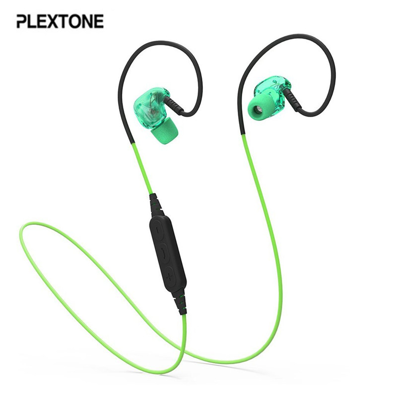 PLEXTONE BX240 Bluetooth Headset IPX5 Waterproof Headphones Wireless Sports Running Stereo Earpiece With Mic for iPhone Samsung newest mini hbq i7 stereo bluetooth headphones stealth sports headset ear hook earpiece with mic for iphone 7 7p samsung xiaom