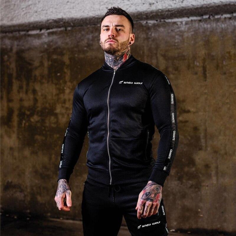 Men Set Casual Sportswear Suit-11