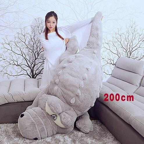 Crocodile en peluche 1.6 m 2 m grande taille Crocodile doux en peluche poupée Vey doux poupée en peluche cadeau jouet 1 pc