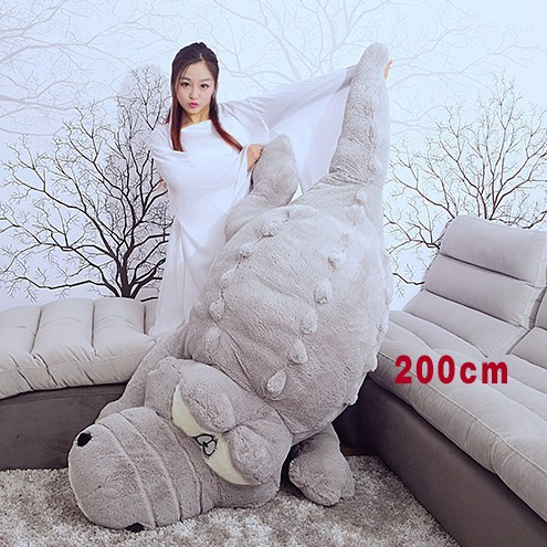 Crocodile Plush Toy 1.6m 2m Big Size Crocodile Soft Stuffed Doll Vey Soft Doll Plush Gift Toy 1pc 5 styles how to train your dragon 2 toothless monstrous nightmare gronckle deadly nadder doll plush stuffed toy