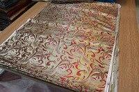 Chinese Silk Brocade Woven Damask Damask Fabric Cheongsam Cushion Jade Back With Golden Green Red Big