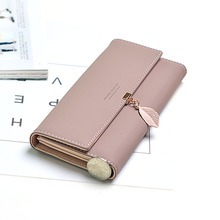 Fashion Style PU Leather wallet Women Long Clutch Wallet Multi-functional wallet Credit Card Holder Female Purse Phone Pocket Ca new fashion trifold embossing rivet women long purse pu leather card holder clutch for women female wallet with phone pocket