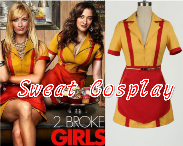 Custom Made 2 Broke Girls Costume Max Black Caroline Wesbox Channing