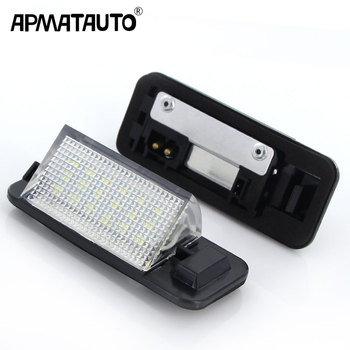 Apmatauto For BMW E36 Led License Plate Light 18SMD White 12v Number Plate Lamp Bulbs For BMW E36 318i 318is 318ti 325i M3,92-98 image
