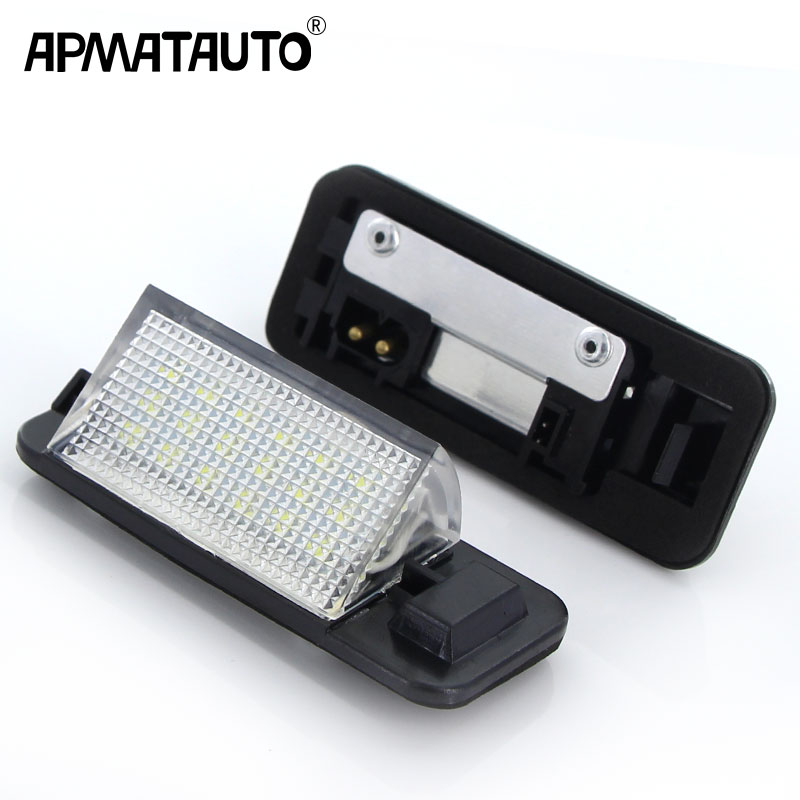 Apmatauto For BMW <font><b>E36</b></font> <font><b>Led</b></font> License Plate Light 18SMD White 12v Number Plate Lamp Bulbs For BMW <font><b>E36</b></font> 318i 318is 318ti 325i M3,92-98 image