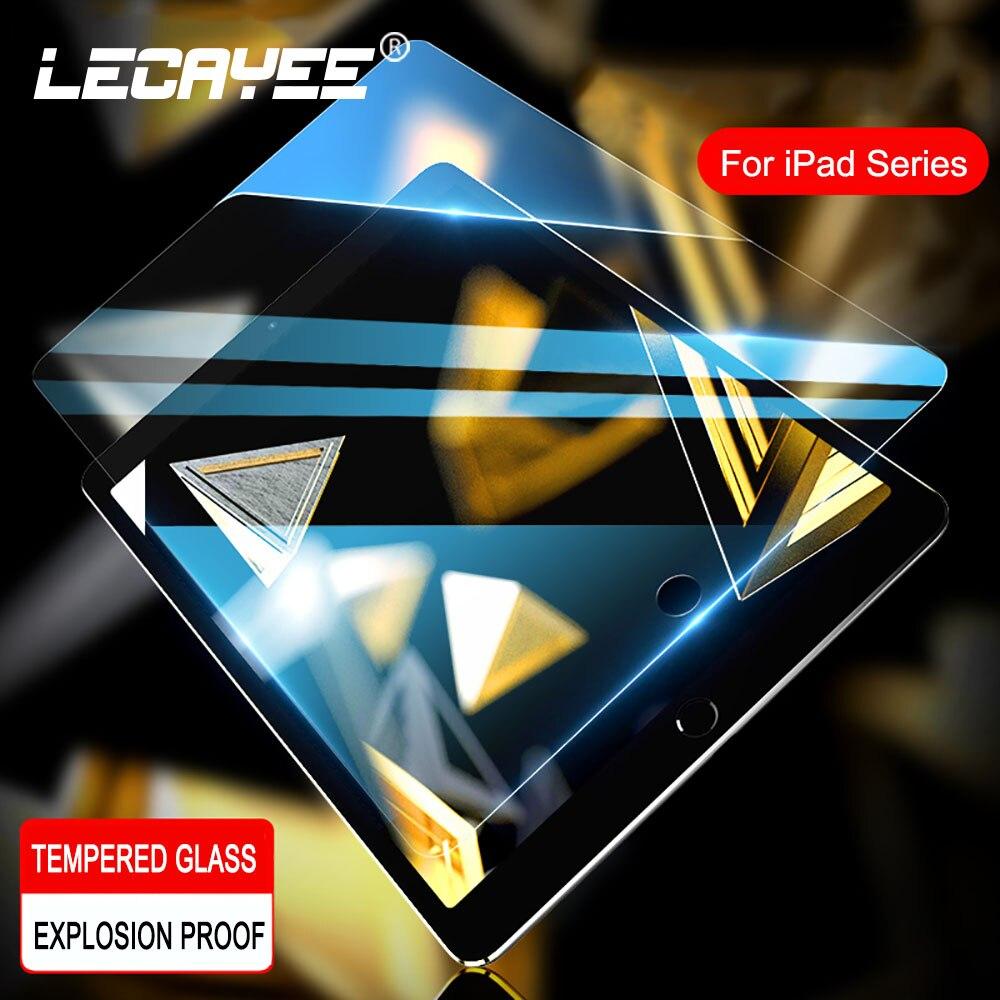 LECAYEE – protecteur d'écran en verre trempé pour iPad Air, 10.5 pouces, 7.9 pouces, Mini, 2017, 11 Air, 2, 3, 4, 5, 2018, 9.7