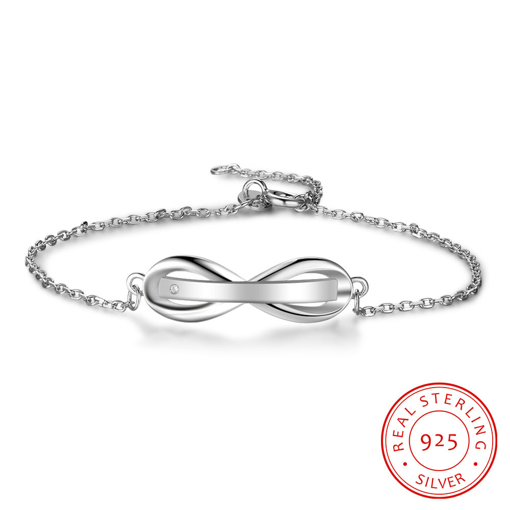 JiShu Personalised Gifts ID Bangles For Infinity Love Engrave Name 925 Sterling Silver Bracelets & Bangles Fine S925 Jewelry JiShu Personalised Gifts ID Bangles For Infinity Love Engrave Name 925 Sterling Silver Bracelets & Bangles Fine S925 Jewelry