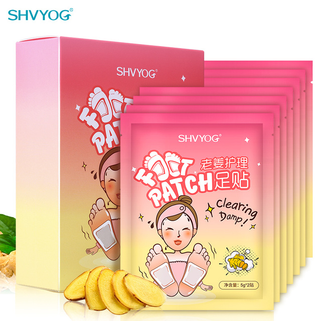 Detox Ginger Foot Patch Pads Body Toxins Feet Care Cleansing Organic Slimming Anti-Swelling Chinese Herbal Adhesive 14 Patches
