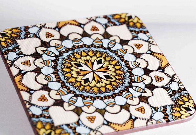 Mandala Wood Coaster