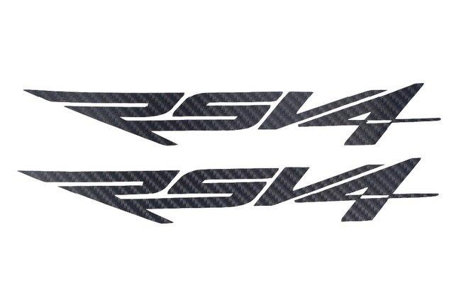 KODASKIN Black Carbon Stickers Decals for Aprilia RSV4-in