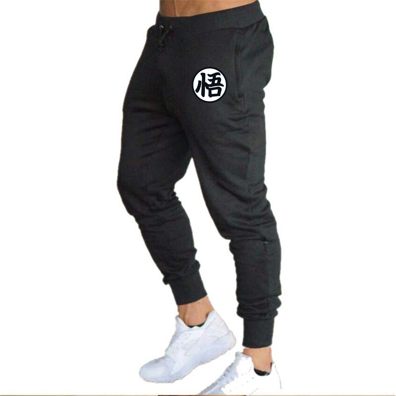 2019 Cotton Men full sportswear Pants Casual Elastic Print Mens Fitness Workout Pants skinny Sweatpants Trousers Jogger Pants(China)