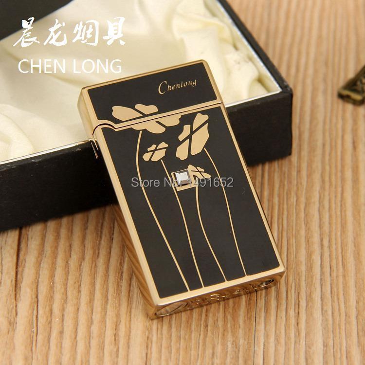 Novelty Gas electronic sense Metal Lighter Funny Lotus Cigarette Lighter Valentine s Day Gift for Man