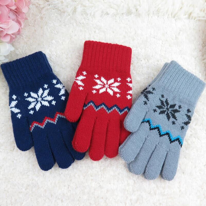 Learned Stretch Snow Knitted Gloves For Women Men Heart Snowflake Gloves Smartphone Screen Use Mittens Wool Knit Warmer Gloves Extremely Efficient In Preserving Heat