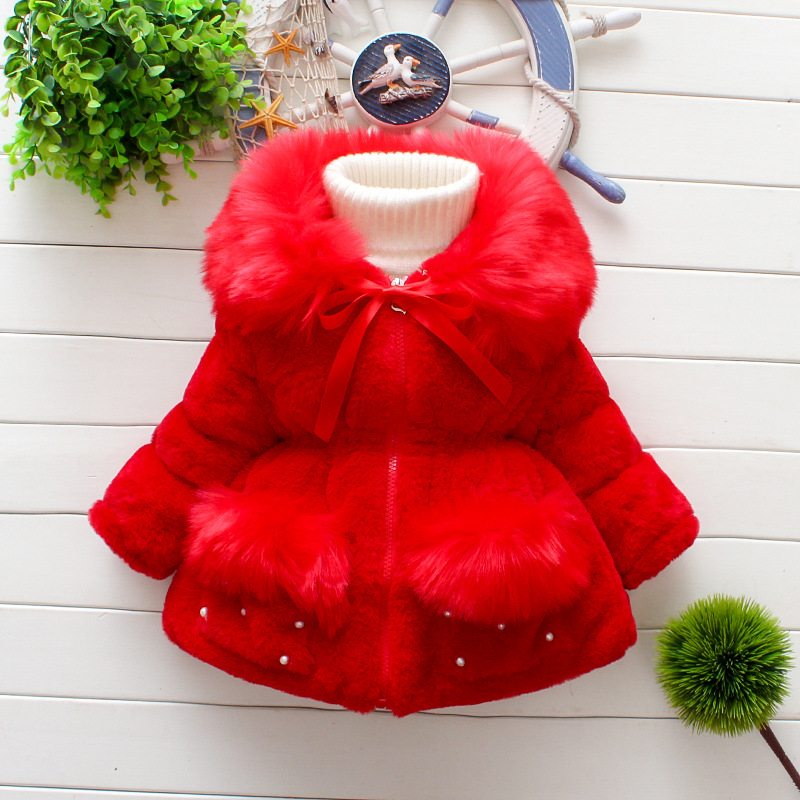 JKP 2018 New girl's fur coat winter clothing imitation fur children's thick wool sweater trade coat fashion Outerwear FPC-174
