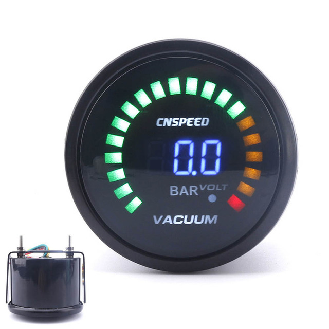 Led Auto Gauges : Cnspeed  mm digital car auto vacuum gauge bar