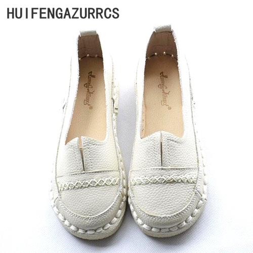 HUIFENGAZURRCS-Mori girl art comfortable low shoes,Women soft sole set foot flat shoes,Genuine leather handtailor shoes,2 colors huifengazurrcs new genuine leather