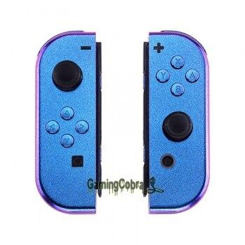 Camaleão Roxo Azul Controlador Shell Habitação Com Botões Conjunto Completo DIY Interruptor de Substituição Caso Shell para Nintendo Alegria-Con