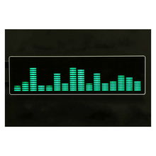 New 16 level LED Music Audio Spectrum indicator Amplifier Board Speed Adjustable With AGC Mode + Case