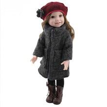 45cm/18inch American Girl Dolls Lifelike Toys For Kids Play House Toys Doll Reborn Great Gift Accompany Sleep Doll Juguetes стоимость