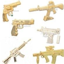 Puzzle Hand Montiert Schusswaffen Simulation Holz Requisiten Dreidimensionale Jigsaw Puzzle 4D Gewehr Pistole Guns Spielzeug