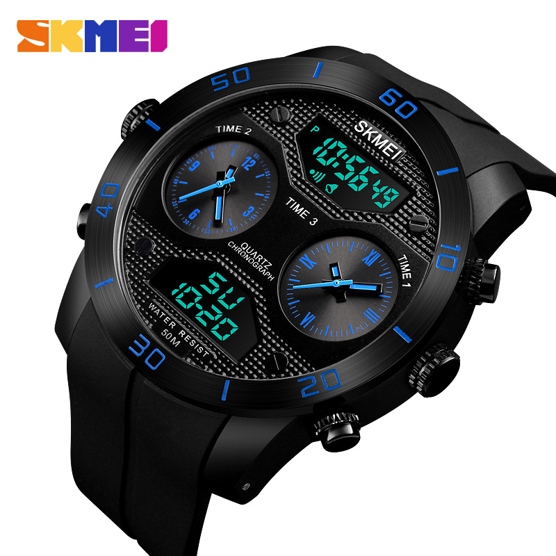 SKMEI Sport Casual Watch Men Stainless Steel Digital LED Chrono Waterproof Quartz Wrist Watch Relogio Masculino Clock Men цена