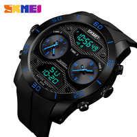 นาฬิกาข้อมือ SKMEI Sport นาฬิกาผู้ชายสเตนเลสดิจิตอล LED Chrono ควอตซ์กันน้ำนาฬิกาข้อมือ Relogio Masculino นาฬิกาผู้ชาย