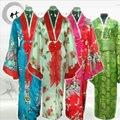 Alta Qualidade Tradicional Quimono Japonês de Cetim de Seda das Mulheres Novidade Stage Roupas Vintage Yukata com Obi One Size