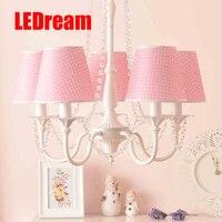 קטן טהור ורענן droplight Creative אופנה קצרה מנורת חדר שינה חדר נסיכה מצוירת לילדים בנים ובנות