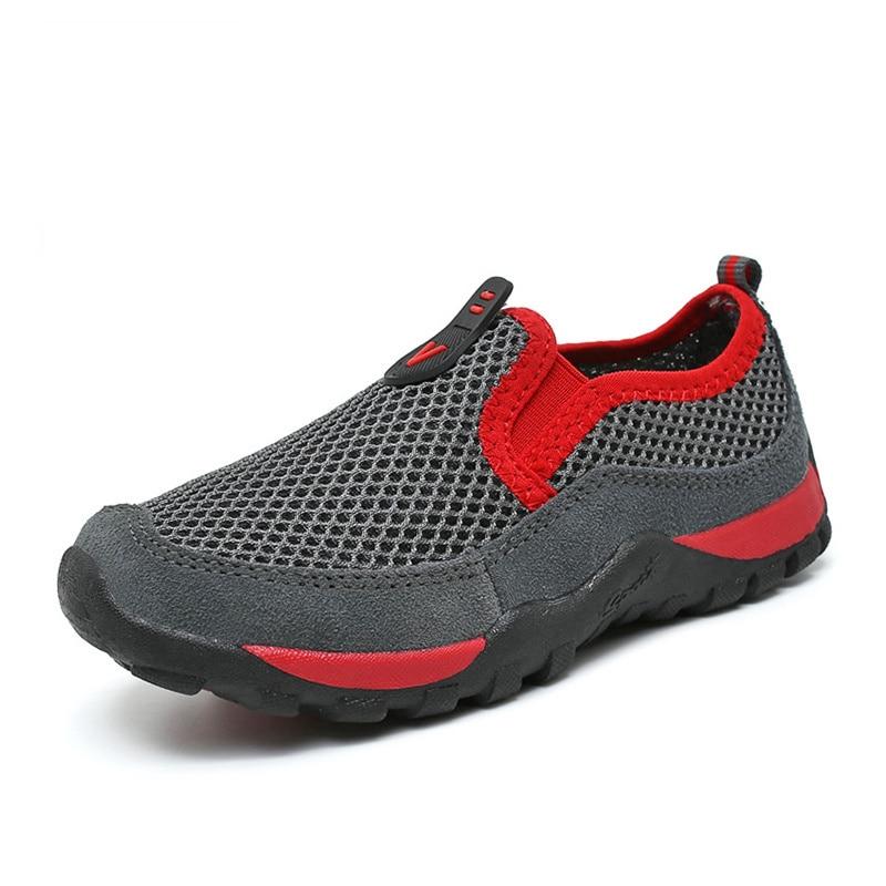 Summer Outdoor Cushioning Light Boys Children Shoes Breathable Mesh Big Kids Shoes Fashion Casual Flats Girls Boy Shoe 28-40