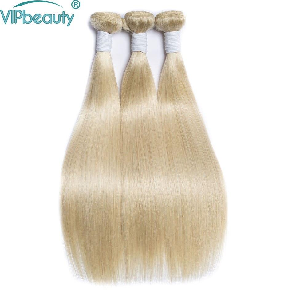 Vip beauty 613 blond hair extenisons straight hair 3 bundles 10 26 inch Brazilian hair weave