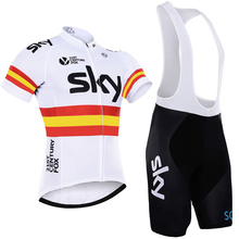 2017 sky cycling team jersey gel pad bike shorts Ropa Ciclismo mens summer bike wear quick dry bicycling Maillot Culotte