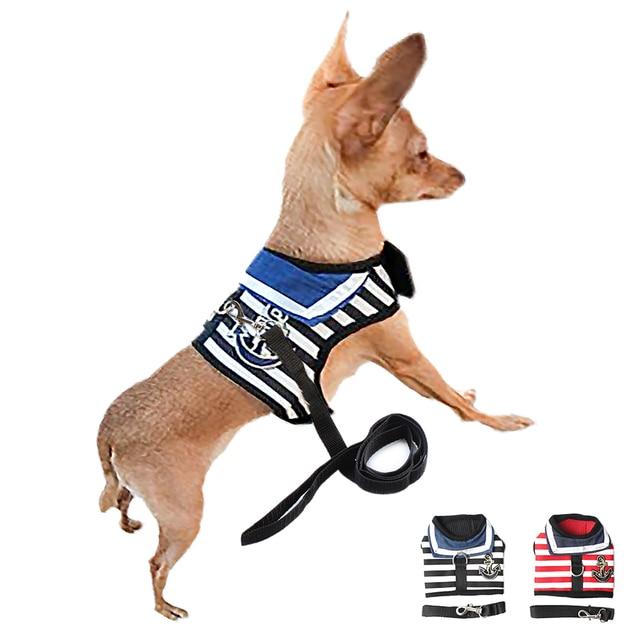 Della banda del Risvolto Dog Cat Harness Toracica Maglia Per Le Piccole cani Hal